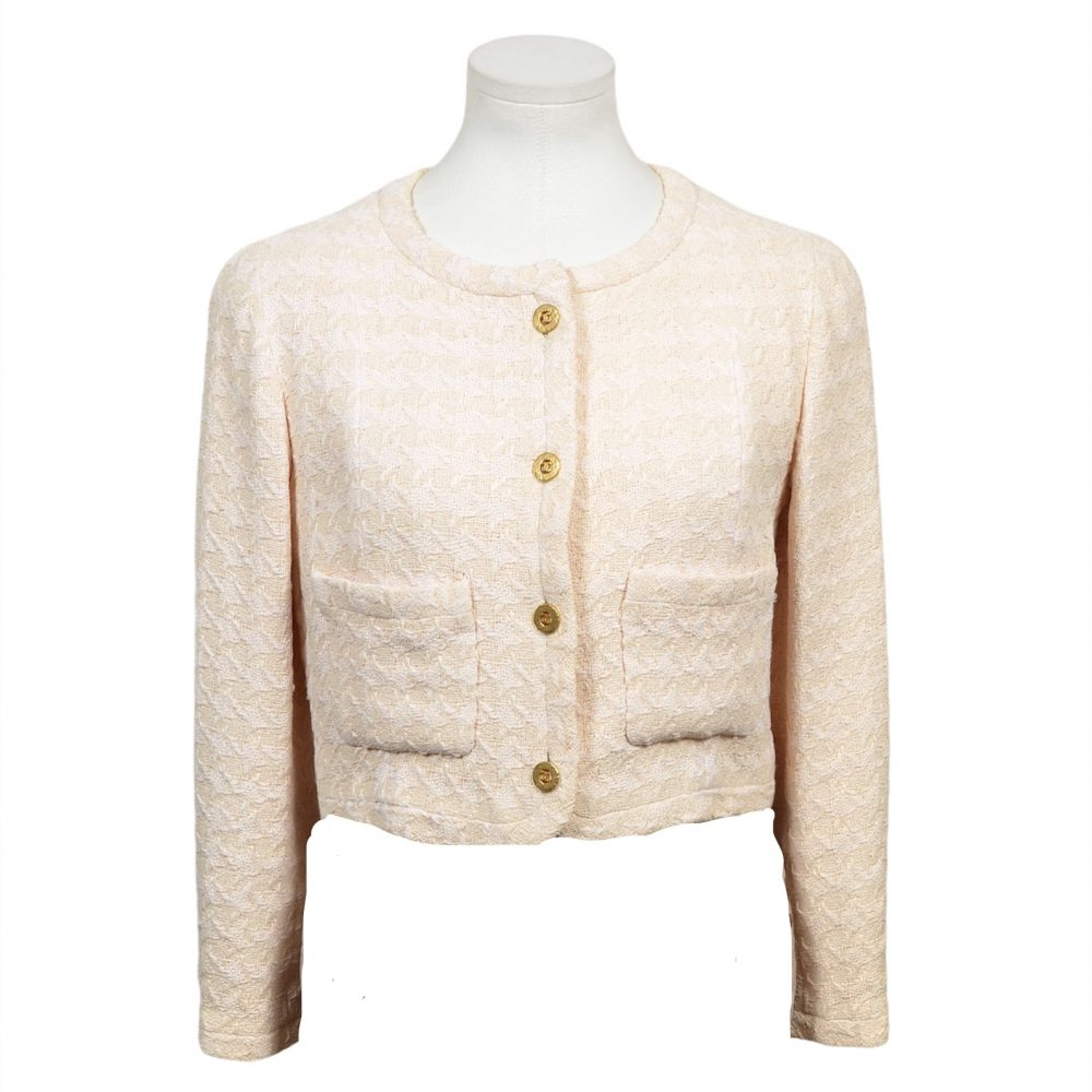 chanel blazer beige gold vintage 36 900