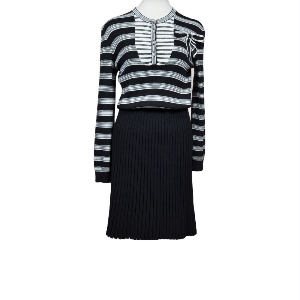 chanel kleid dress viscose 40 (2)