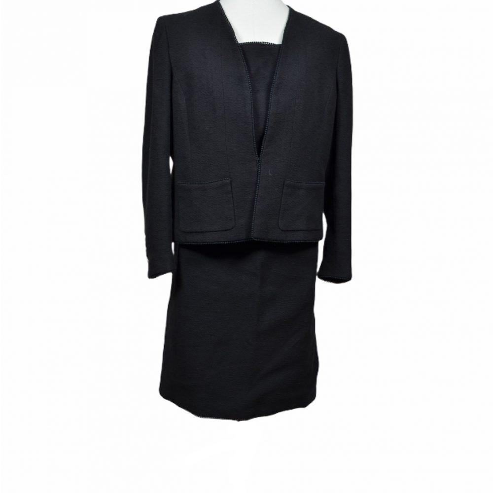 chanel vintage 3 teiler top skirt jacket 40