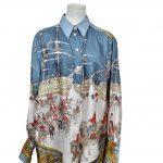 hermes carre bluse vintage