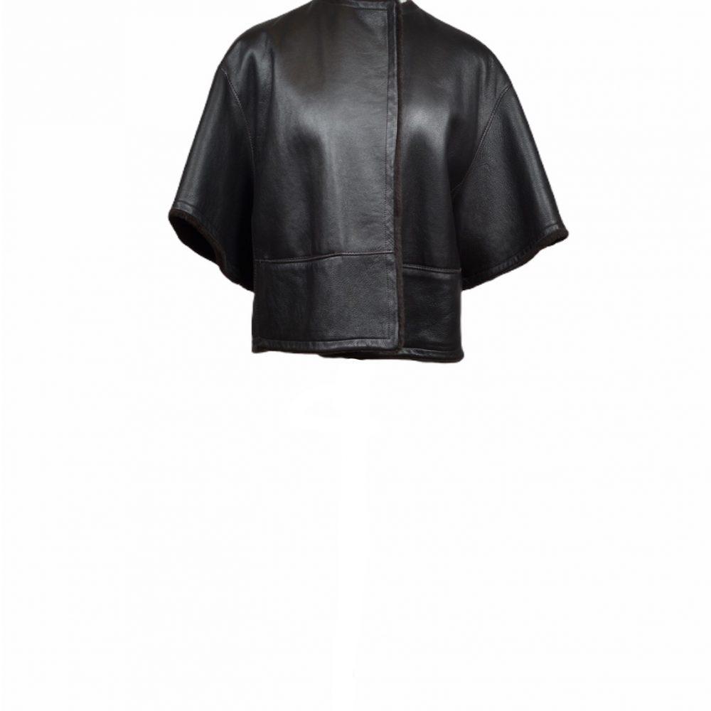 hermes lambskin jacket 40 brown (1)