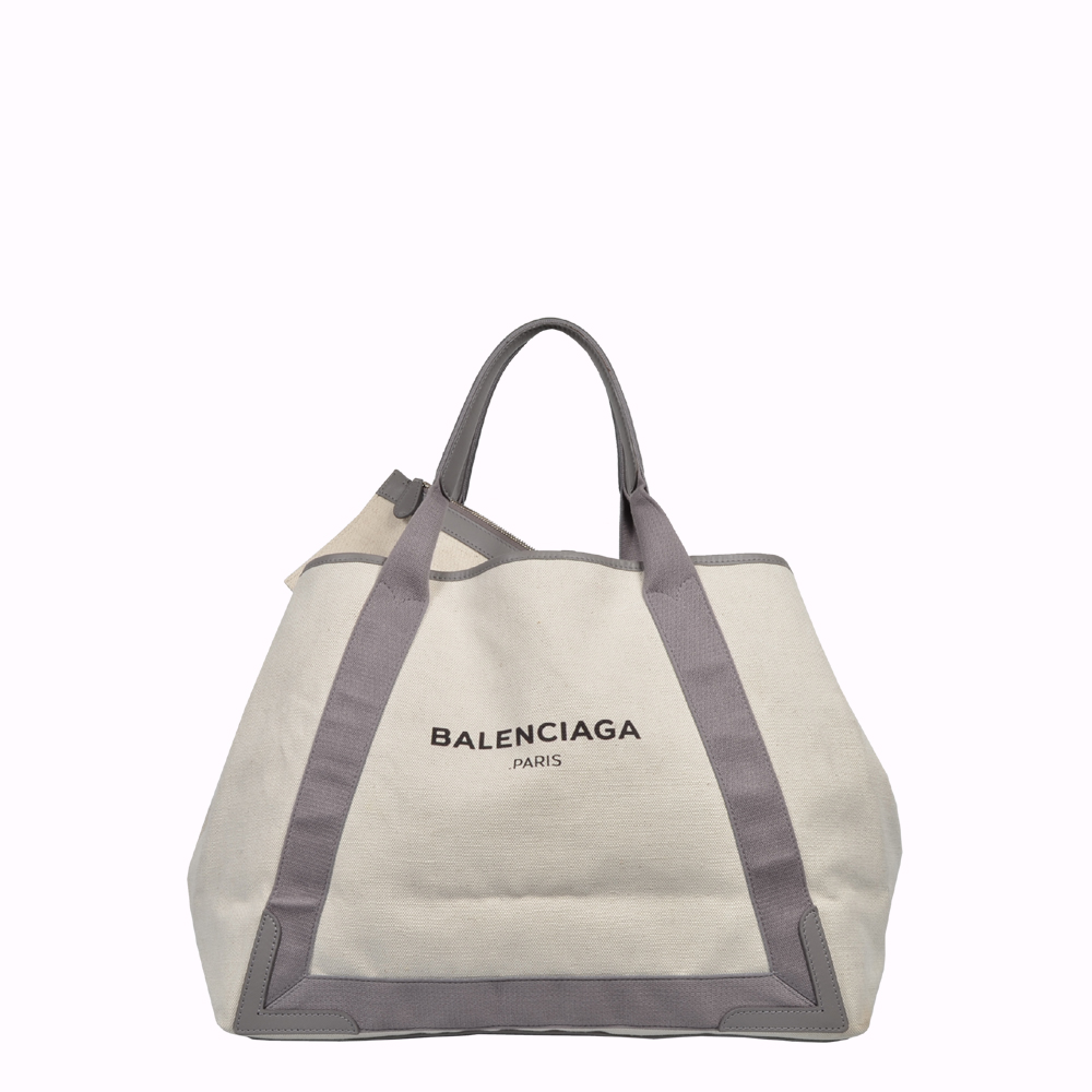 Balenciaga Navy Shopper Tasche Bag Cabas Canvas grey grau