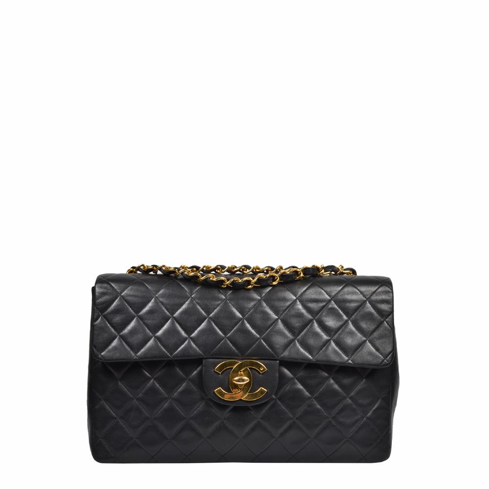 Chanel Bag Classic 34 Schwarz Nappa Gold 4.900 ewa lagan frankfurt secondhand vintage