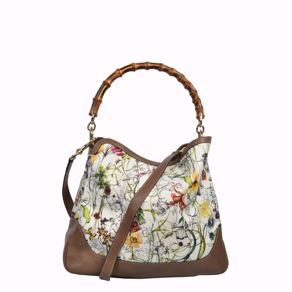 Gucci Tasche Bag Diana Canvas Leder leather Bamboo Floral