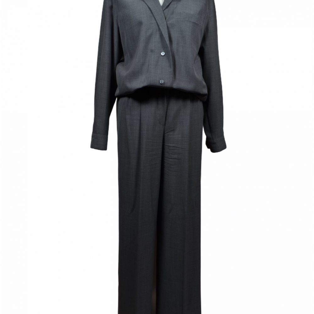 Hermes Anzug Bluse Hose grau 38 400€ ewa lagan Frankfurt secondhand