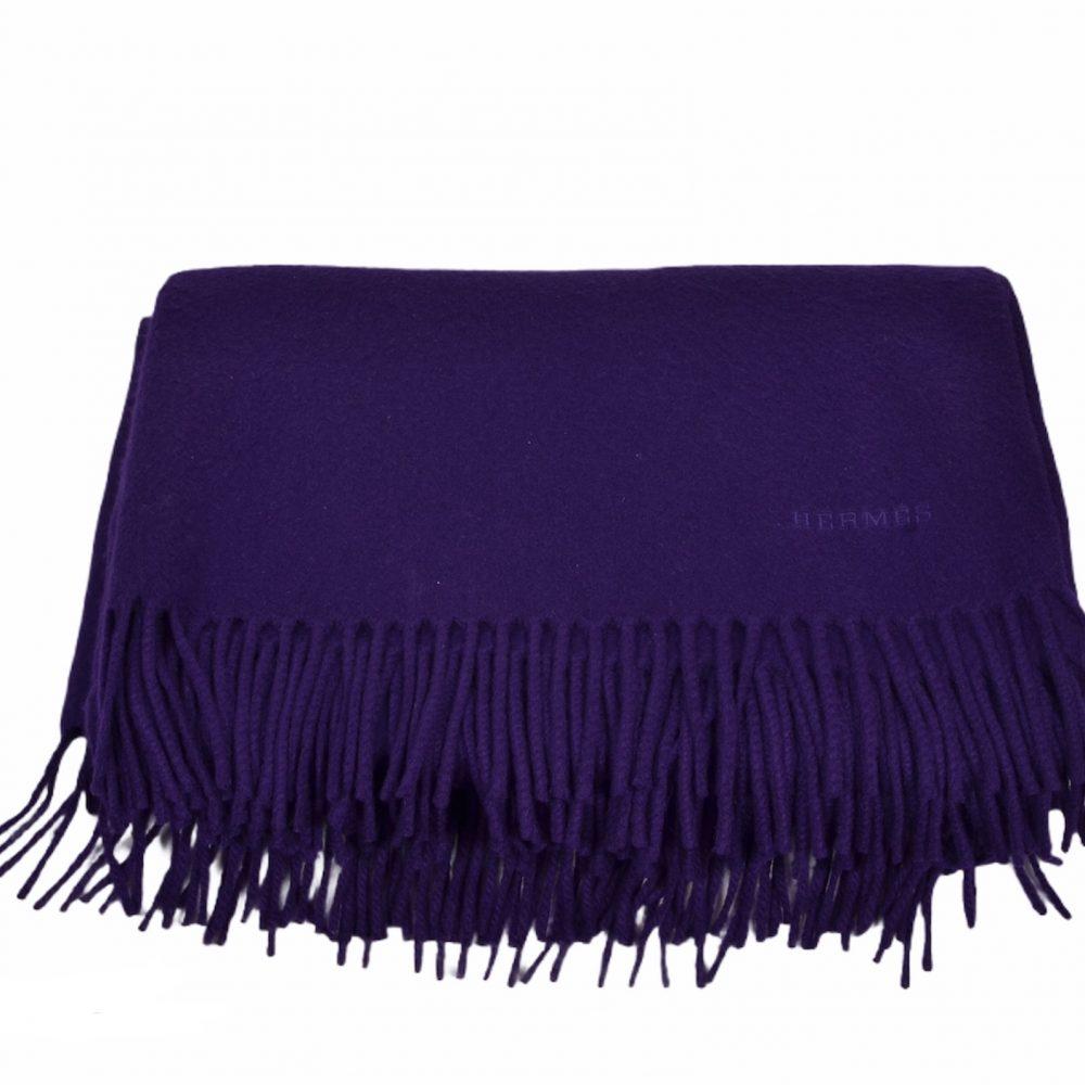 Hermes Cashmere Decke XXl lila Blanket ewa lagan Secondhand Frankfurt