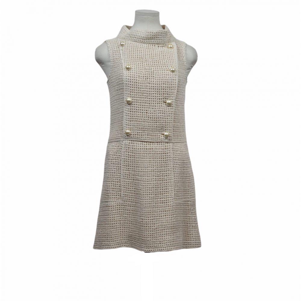 chanel kleid wildseide 34 perlen knöpfe 1800 ewa lagan secondhand frankfurt