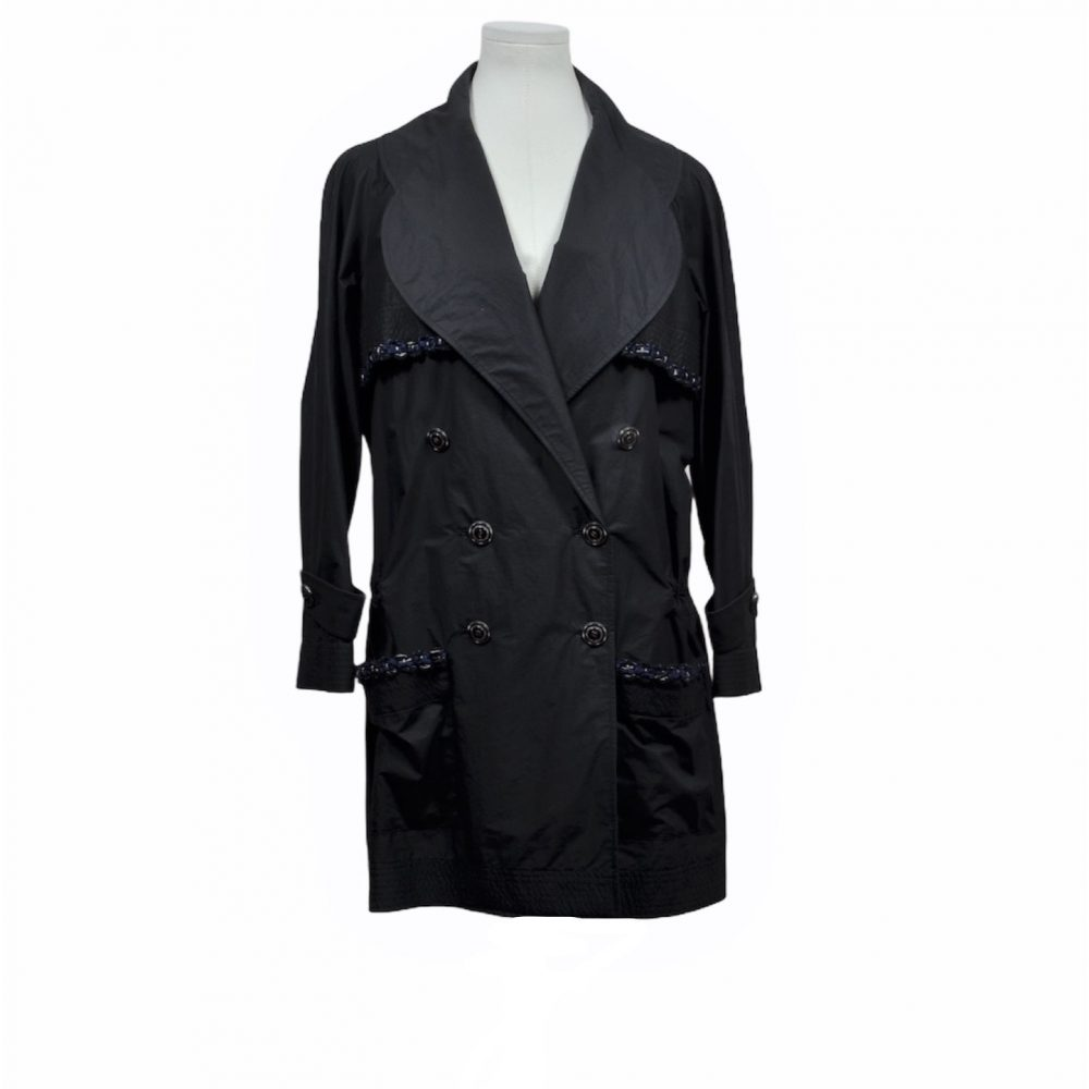 chanel Regen mantel tweed 42 1600 coat ewa lagan frankfurt secondhand