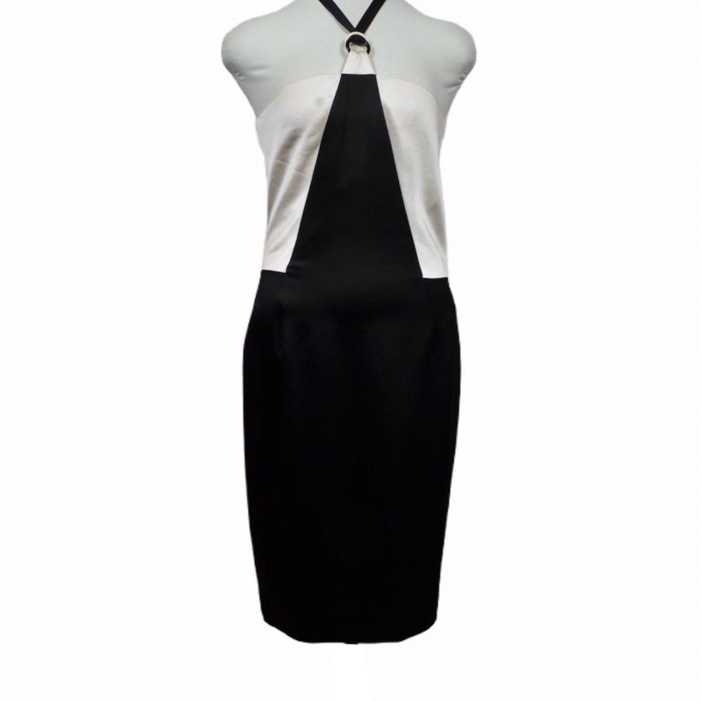 chanel kleid dress black & white 36 silk 1000 ewa lagan frankfurt secondhand