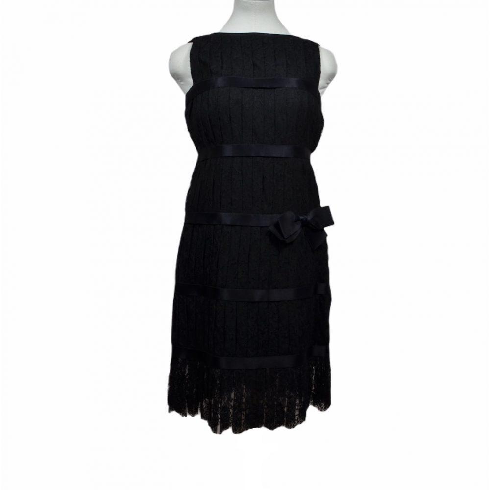 chanel kleid dress plisse spitze Satin 2000 ewa lagan frankfurt secondhand