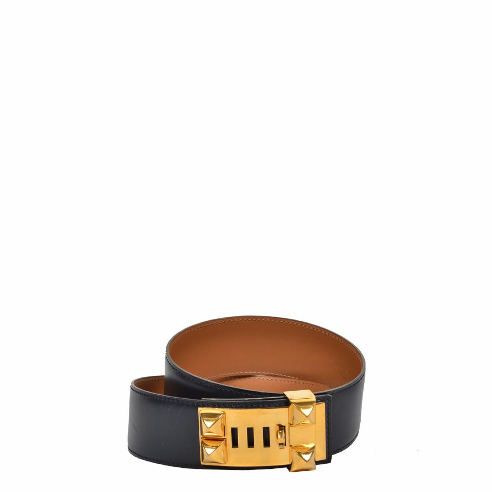 hermes gürtel collier de chien dunkelblau beige 700 _2 ( 75cm) Kopie – Kopie