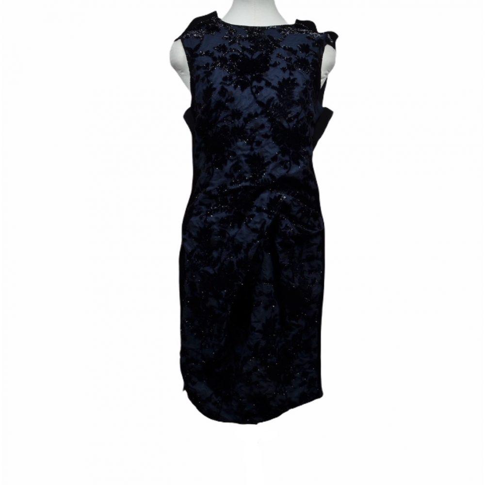 lanvin kleid dress 40 blau schwarz 350 ewa lagan frankfurt secondhand