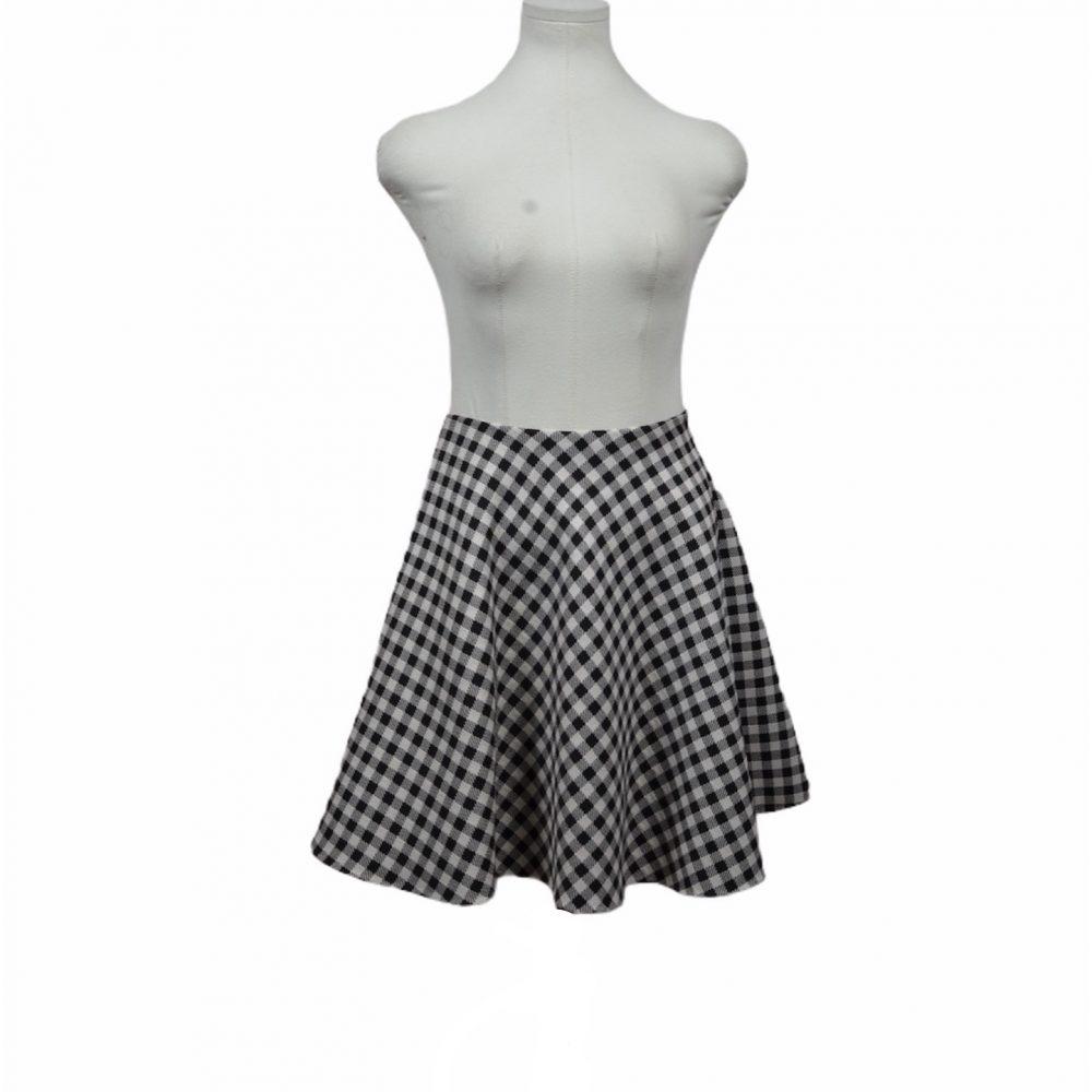 prada rock skirt 36 schwarz weiß wool 300 ewa lagan frankfurt secondhand