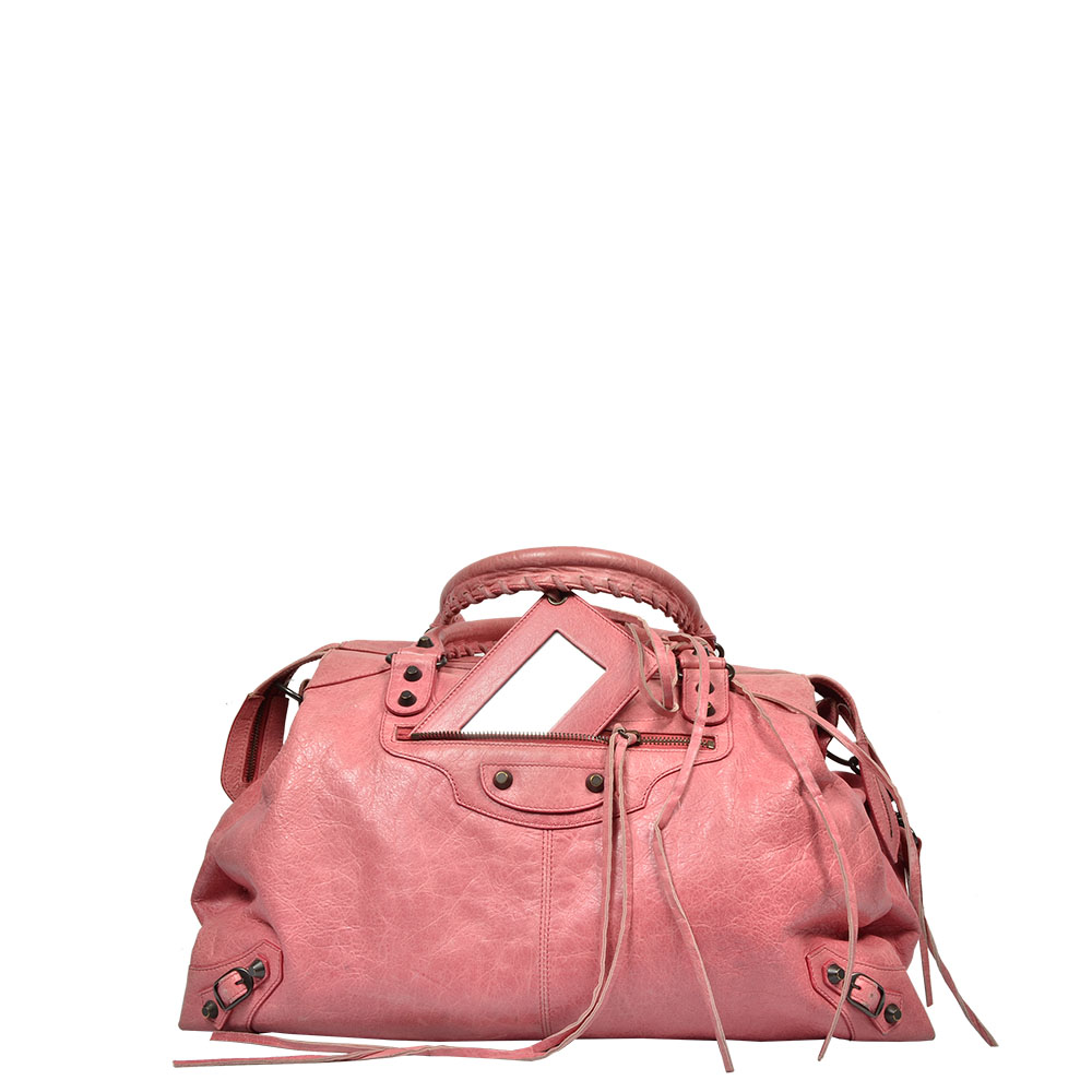 Balenciaga Motorcycle City Bag pink Salomon Leder Leather