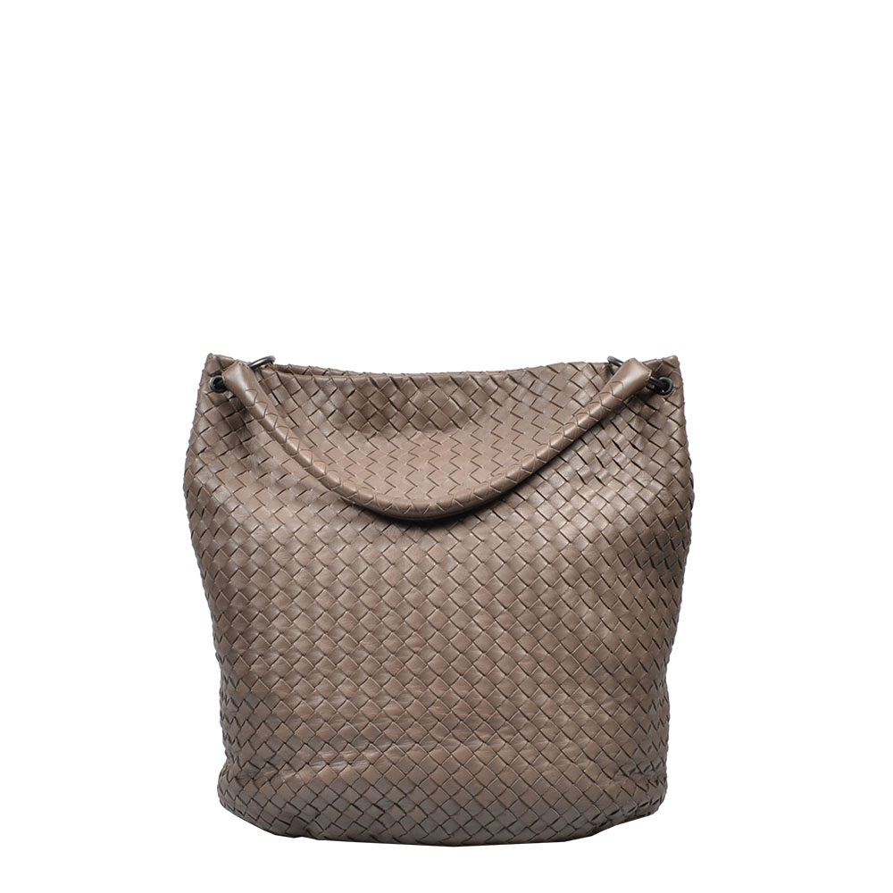 Bottega Veneta Tasche geflochten Hobo woven Bag Shoulder Etoupe