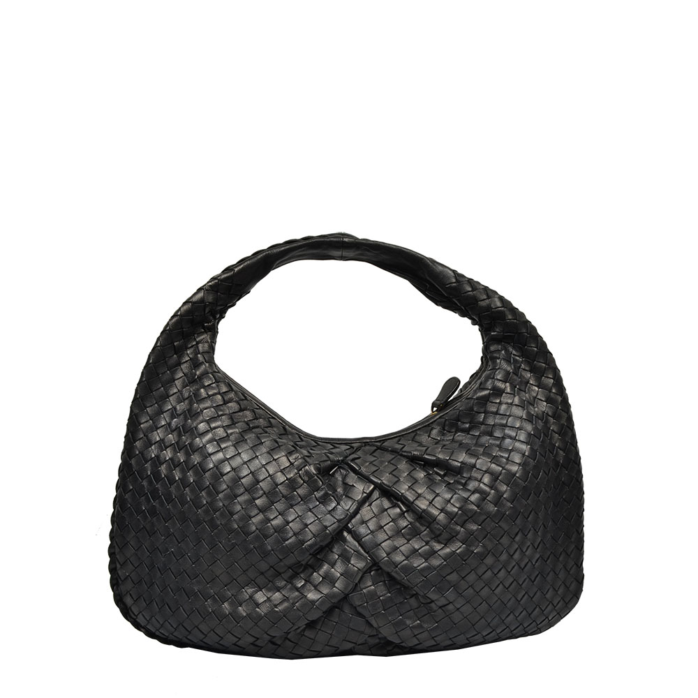 Bottega Veneta Hobo black schwarz Bag Plaited Medium Limited Edition