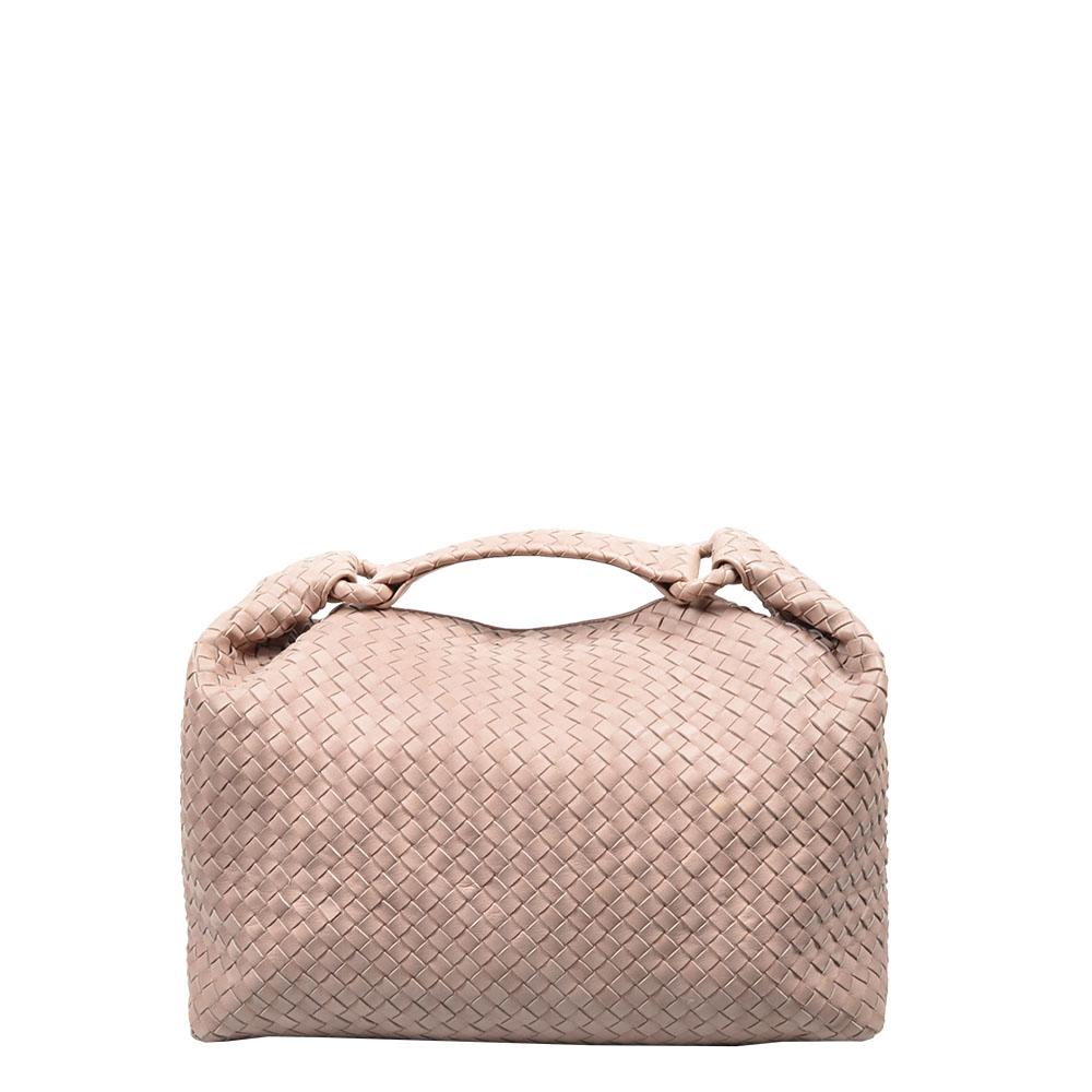 Bottega Veneta Tasche Sloane geflochten Hobo woven Bag rosa