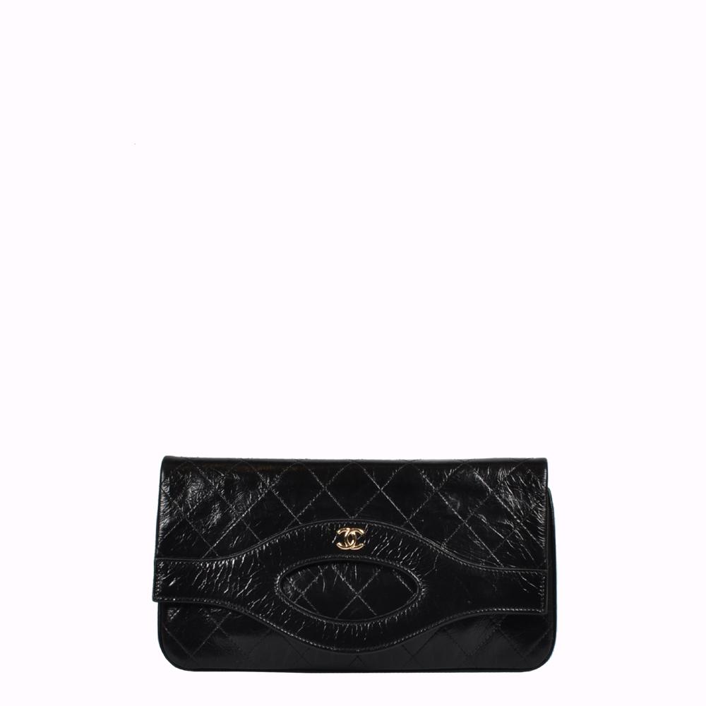 Le Sac Chanel Clutch Pochette 31 schwarz Gold Pouch