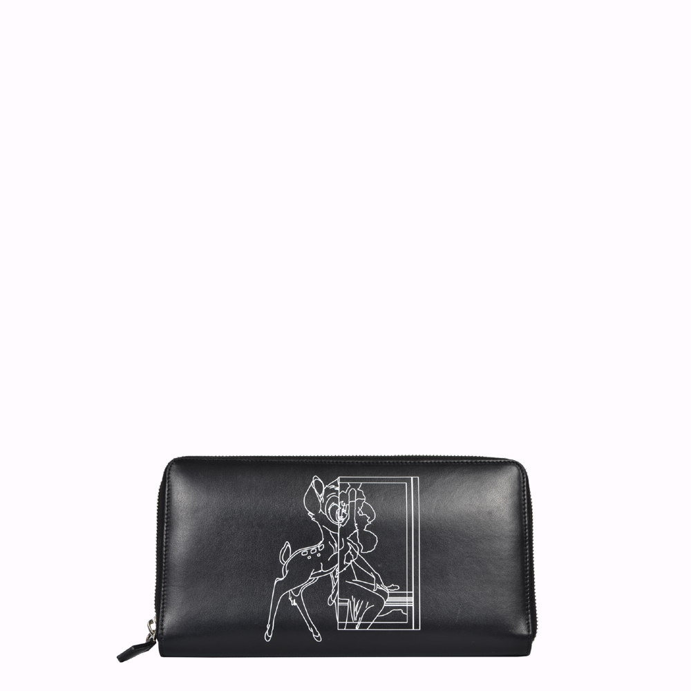 Givenchy Geldbörse Leder schwarz Bambi XL Wallet leather black