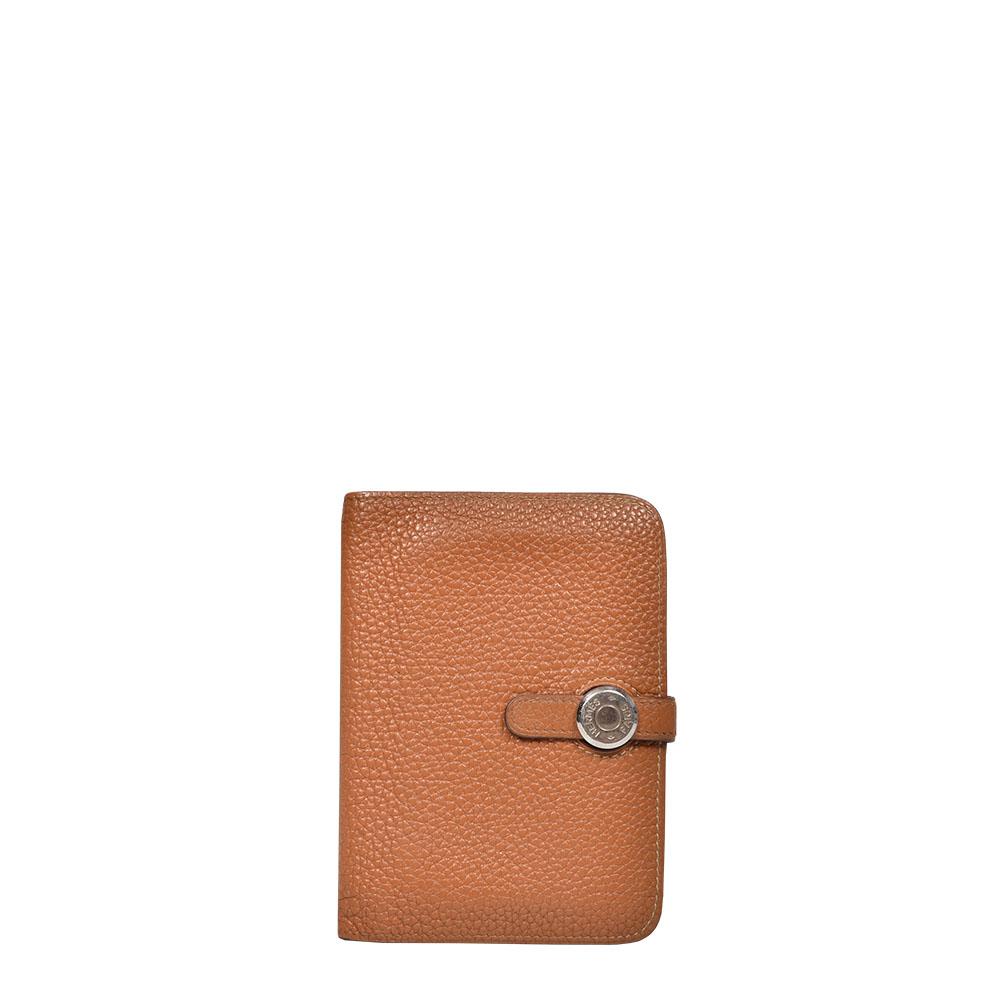 Hermes Kartenetui Geldbörse Dogon Gold Palladium Hermes Wallet