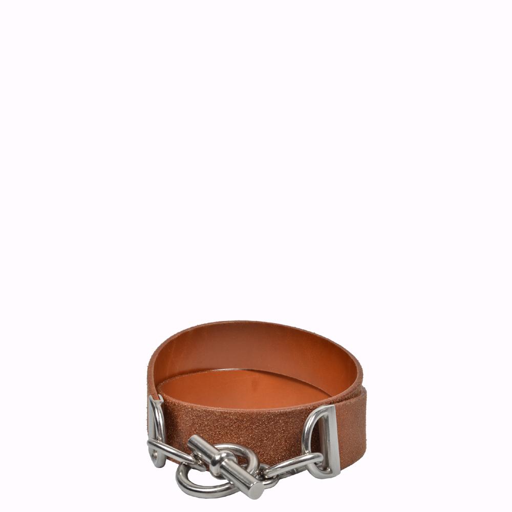 Chaine d'Ancre Wash Naturelle Palladium 80 cm Hermes Belt