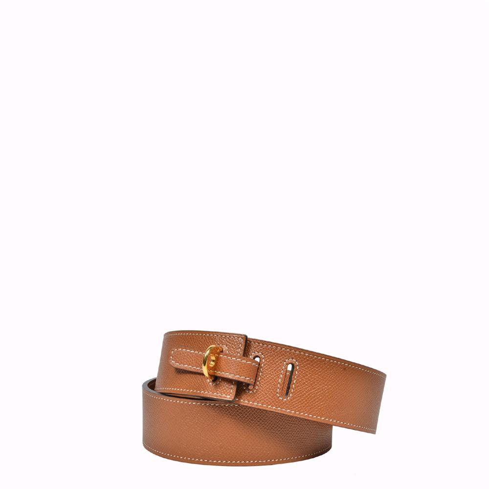 Hermes Gürtel Epsom Leder Gold Gold 85 cm Hermes Belt