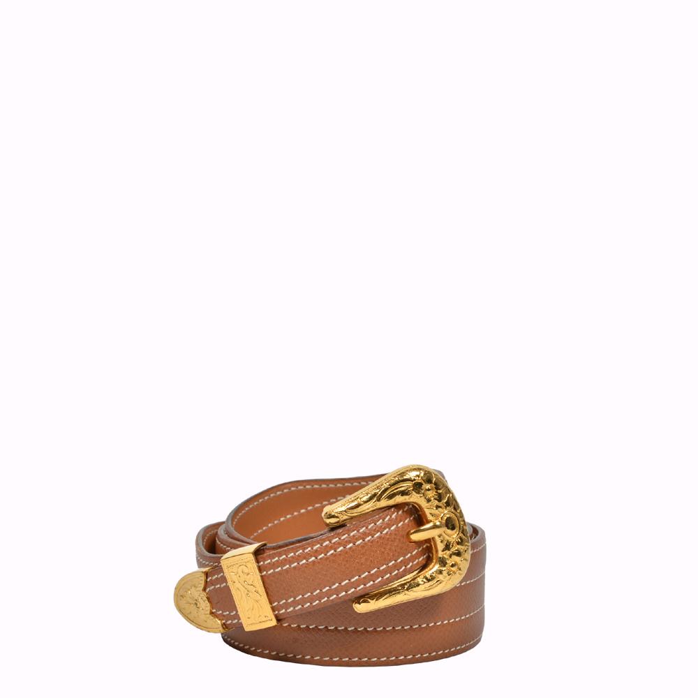 Hermes Gürtel Mexique Epsom Leder Gold Gold 75 Hermes Belt