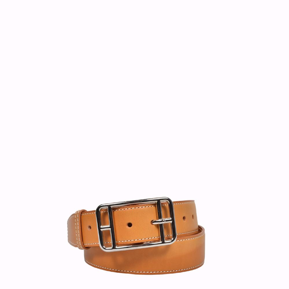 Hermes Gürtel Cape Cod Natur Leder Palladium 75 cm Hermes Belt