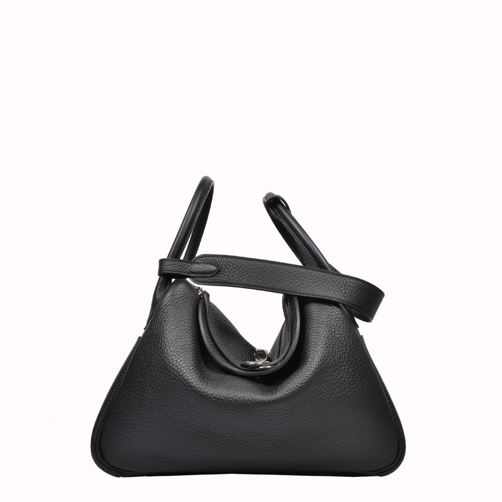 Hermes Bag Tasche Lindy 30 schwarz black Palladium