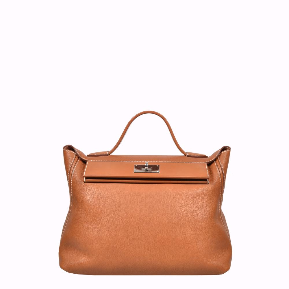 Hermes Bag Tasche 24/24 35 Taurillon Maurice Barenia Gold Palladium