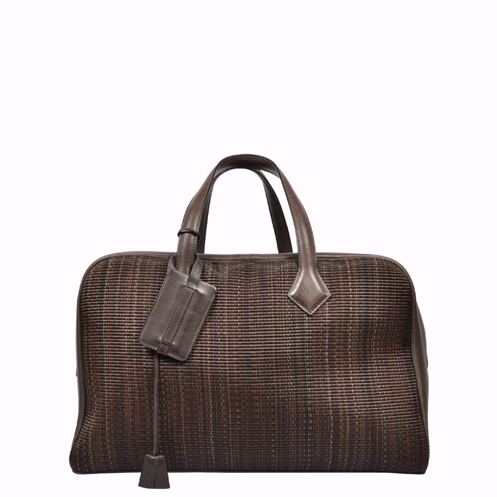 Hermes Travel 43 Tasche Bag Victoria Roßhaar Barenia Leder braun brown