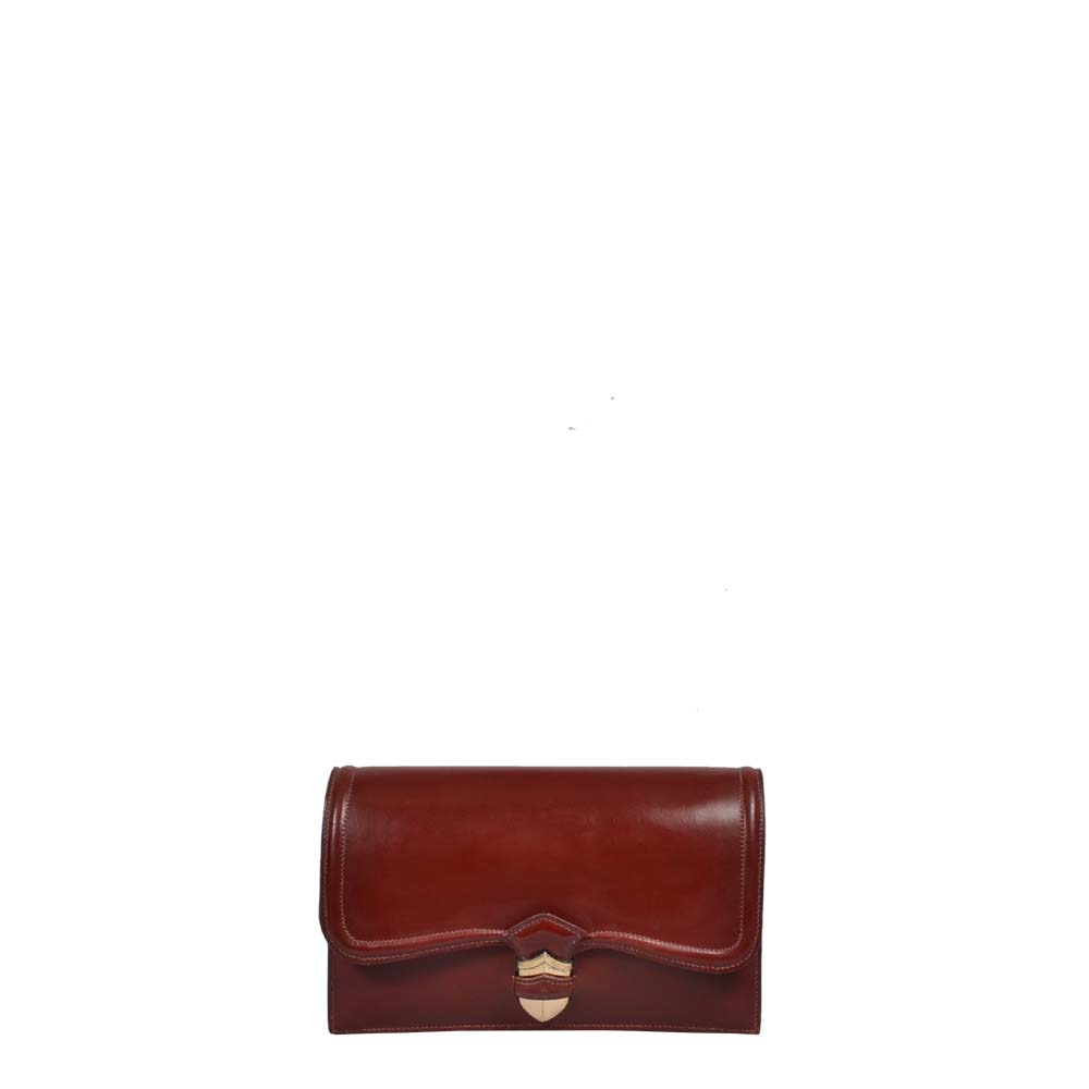 Hermes Vintage Pochette Rough H Silber