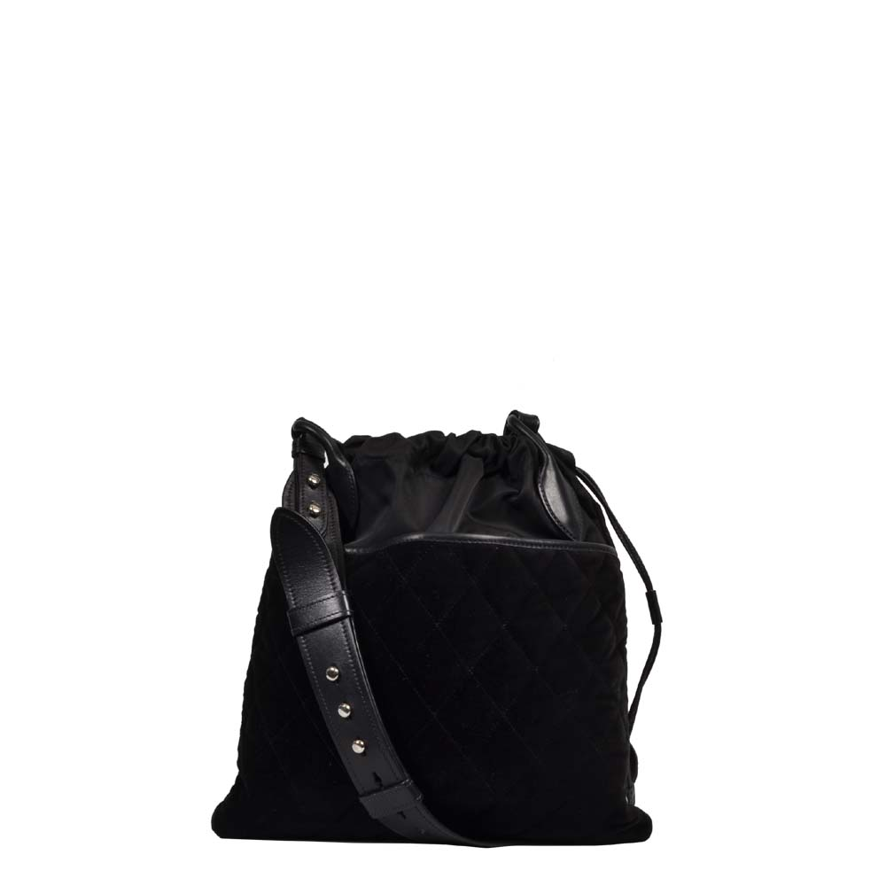 Prada Tasche schwarz Nylon Samt Leder / Prada Bag black Velvet Nylon Crossbody