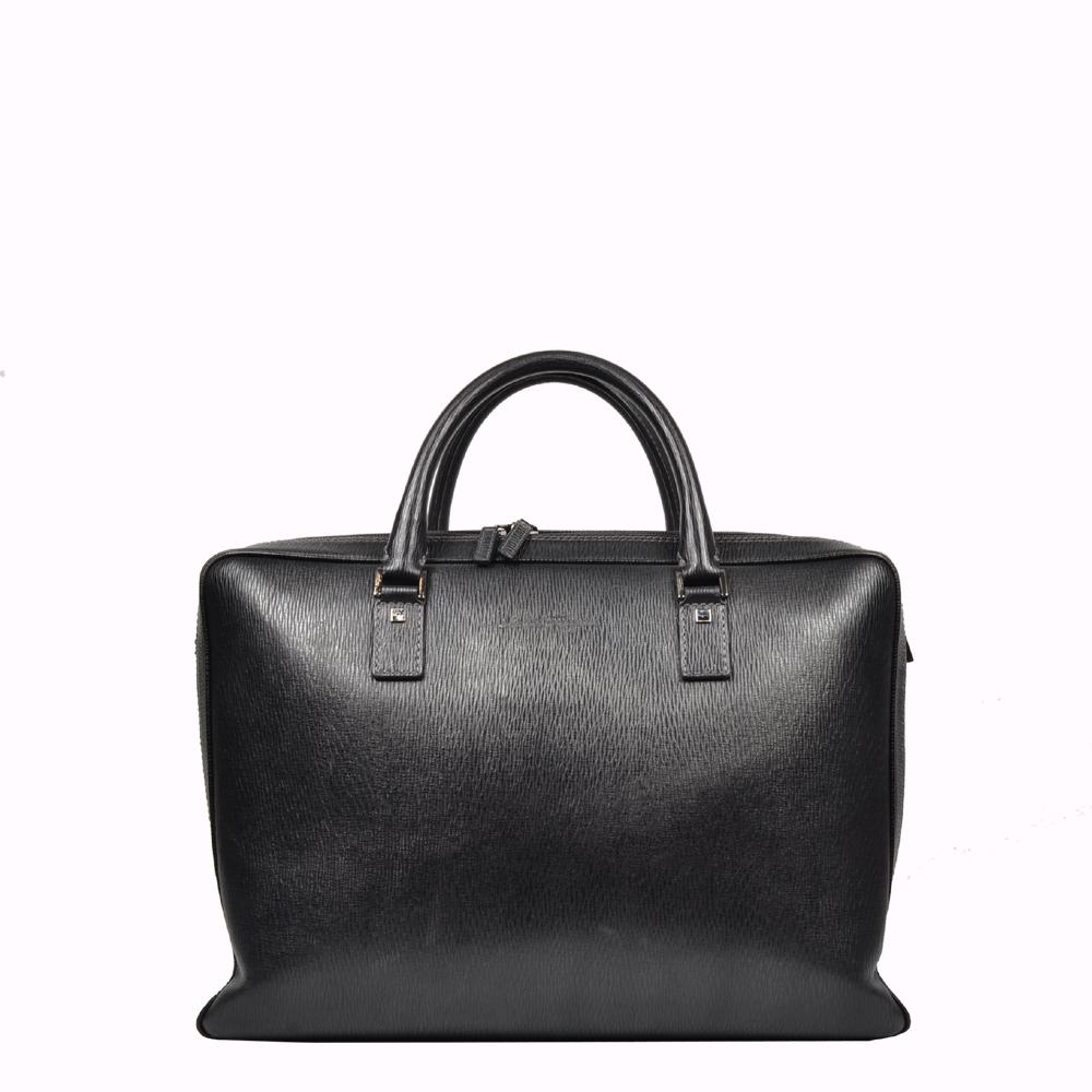 Salvatore Ferragamo Aktentasche Briefcase schwarz Leder Leather