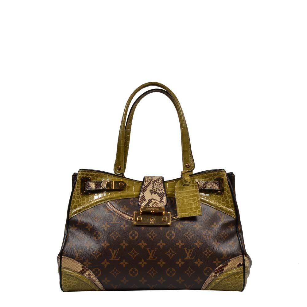Louis Vuitton Tasche Python Alligator Monogramissime Exotic Shopper GM Vert