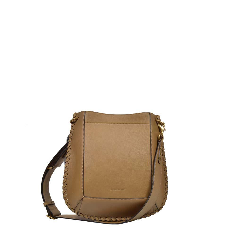 Isabel Marant Tasche Schultertasche Crossbody in Leder beige / Khaki