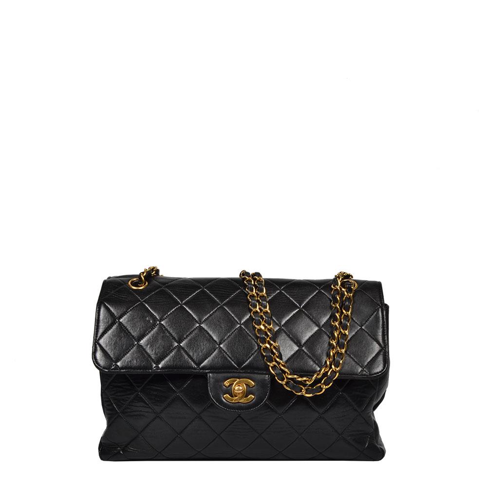 Chanel Tasche Timeless Schwarz Gold Double