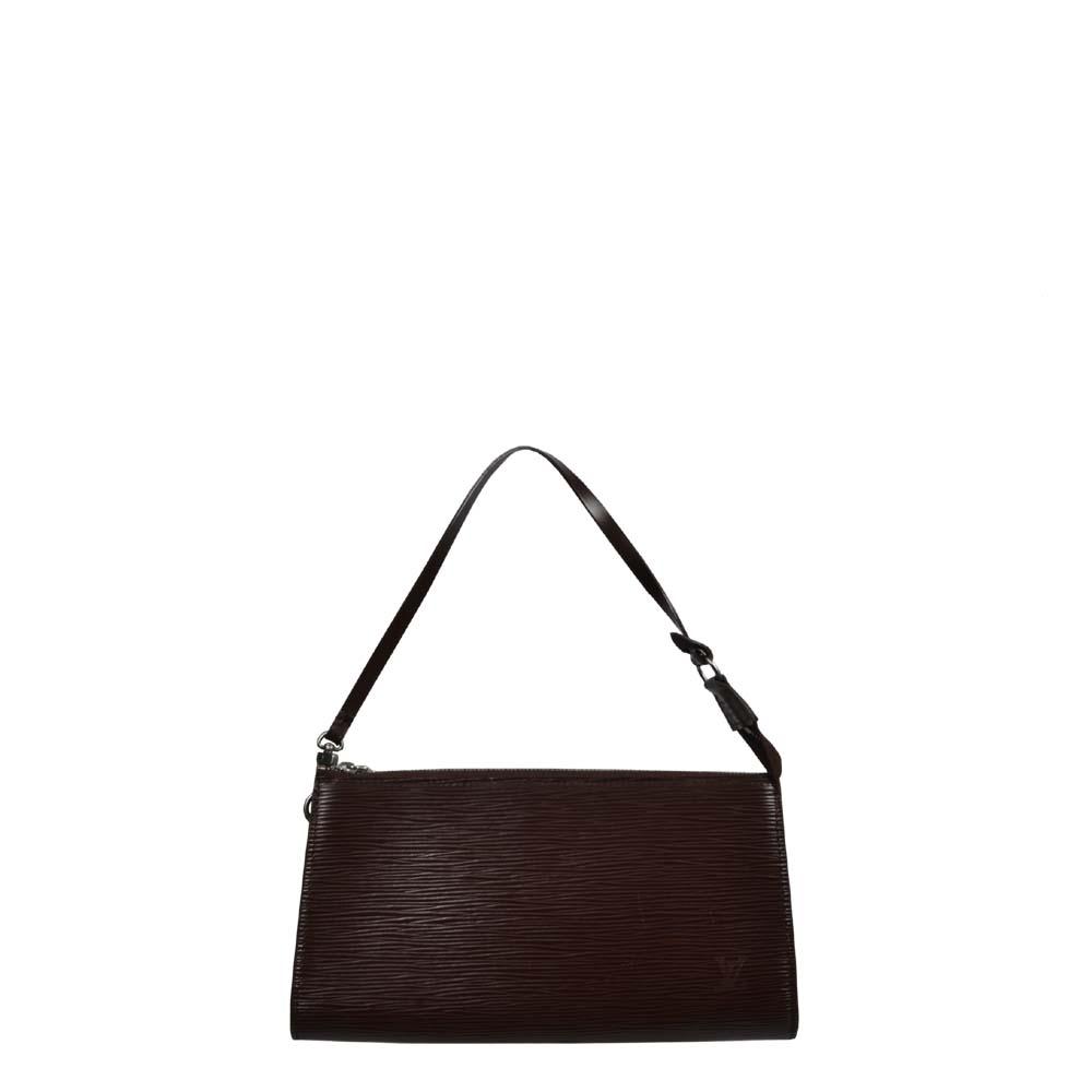Louis Vuitton Pochette Epi Leder braun silber