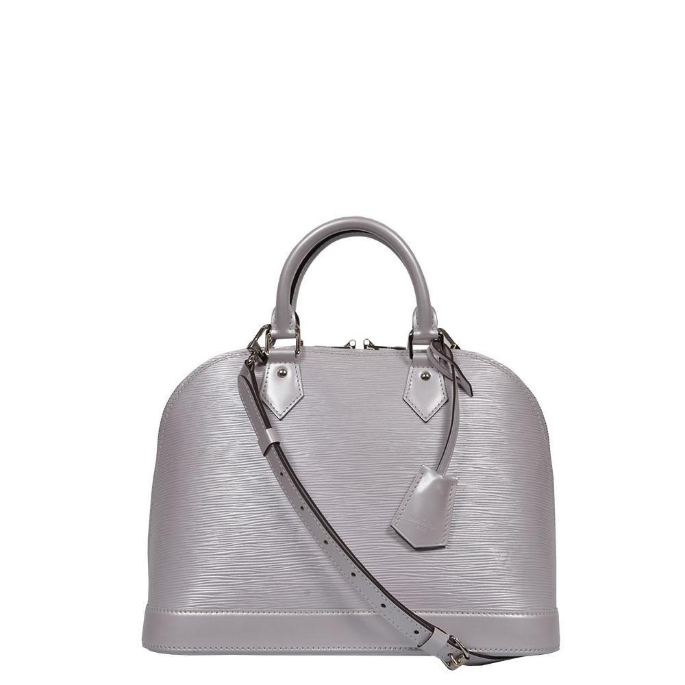 Louis Vuitton Tasche Alma Epileder flieder silber