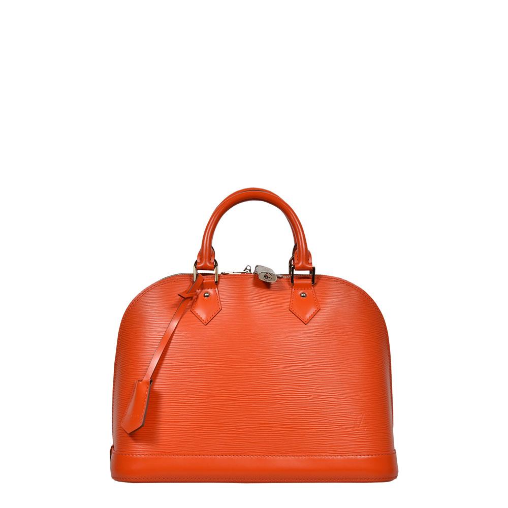 Louis Vuitton Tasche Alma Epileder orange silber