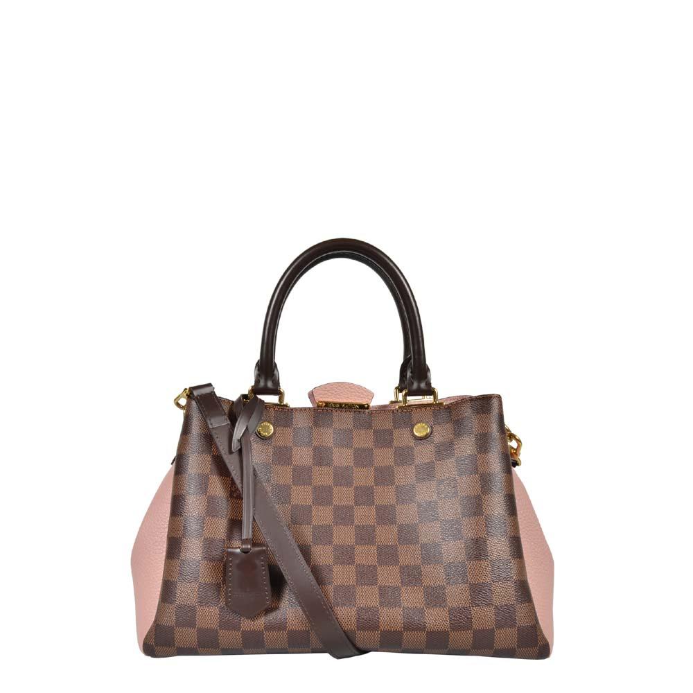 Louis Vuitton Tasche Brittany Damier Leder Magnolia Gold