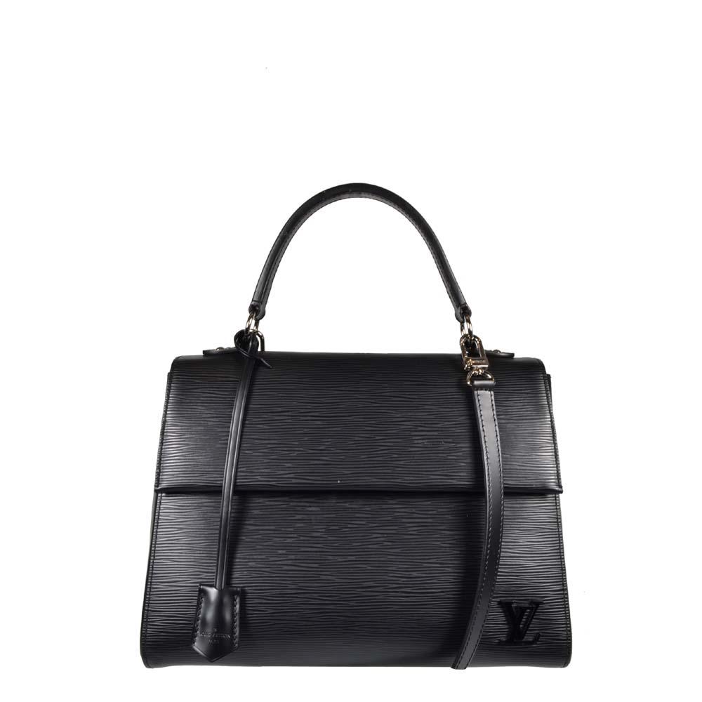 Louis Vuitton Tasche Cluny Epileder schwarz Silber Hardware