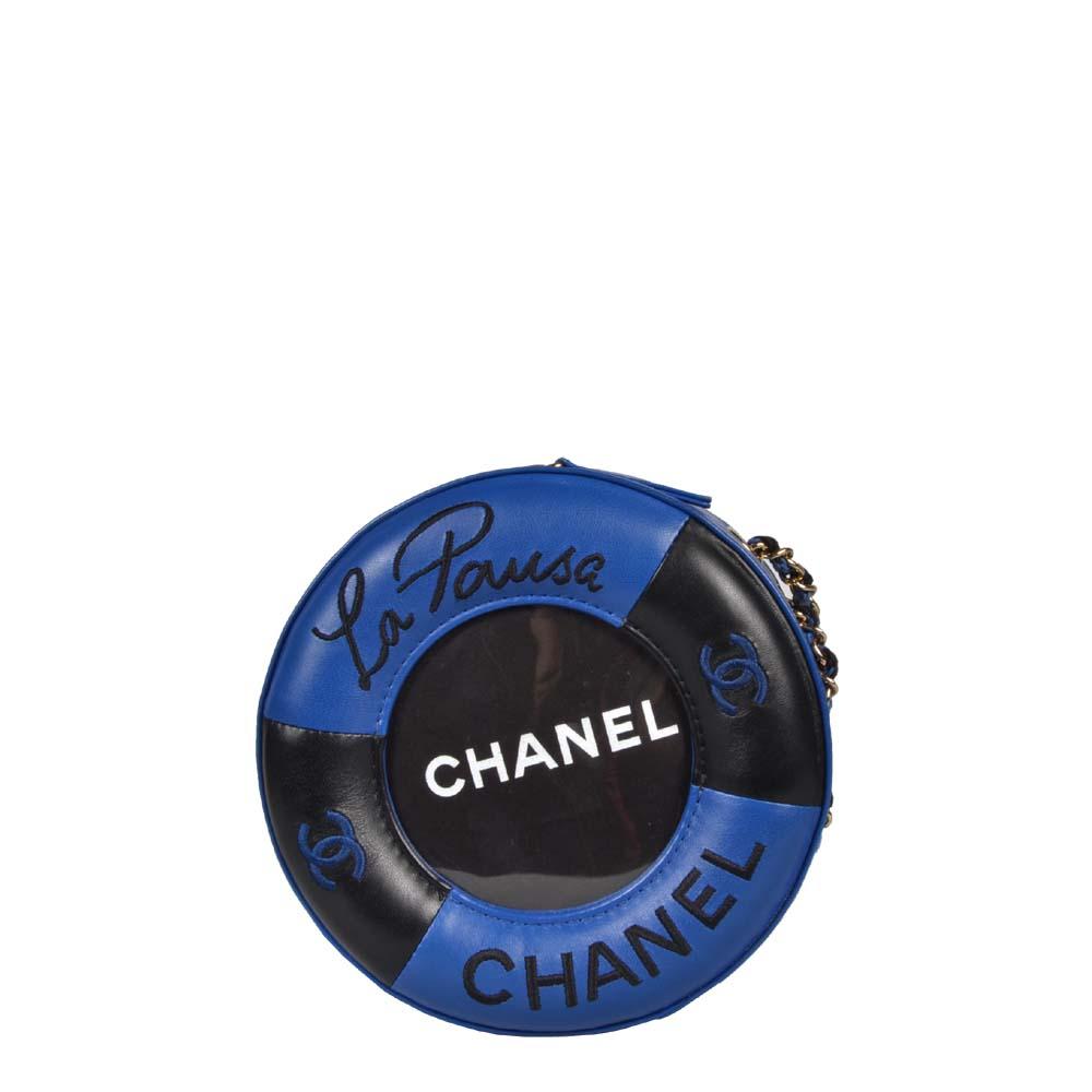 Chanel Tasche Cruise 19 Lifesaver blau schwarz gold