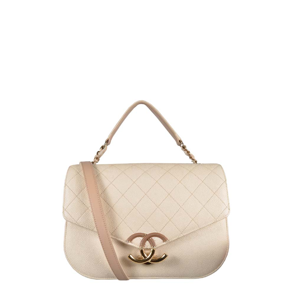 Chanel Tasche Cuba Collection Cavier beige Gold Hardware