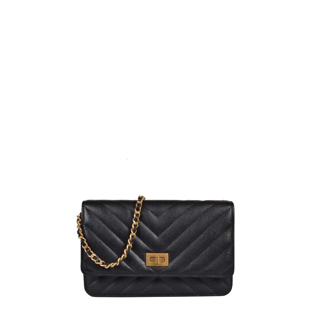 Chanel Wallet on Chain 2.55 Cavier schwarz Gold