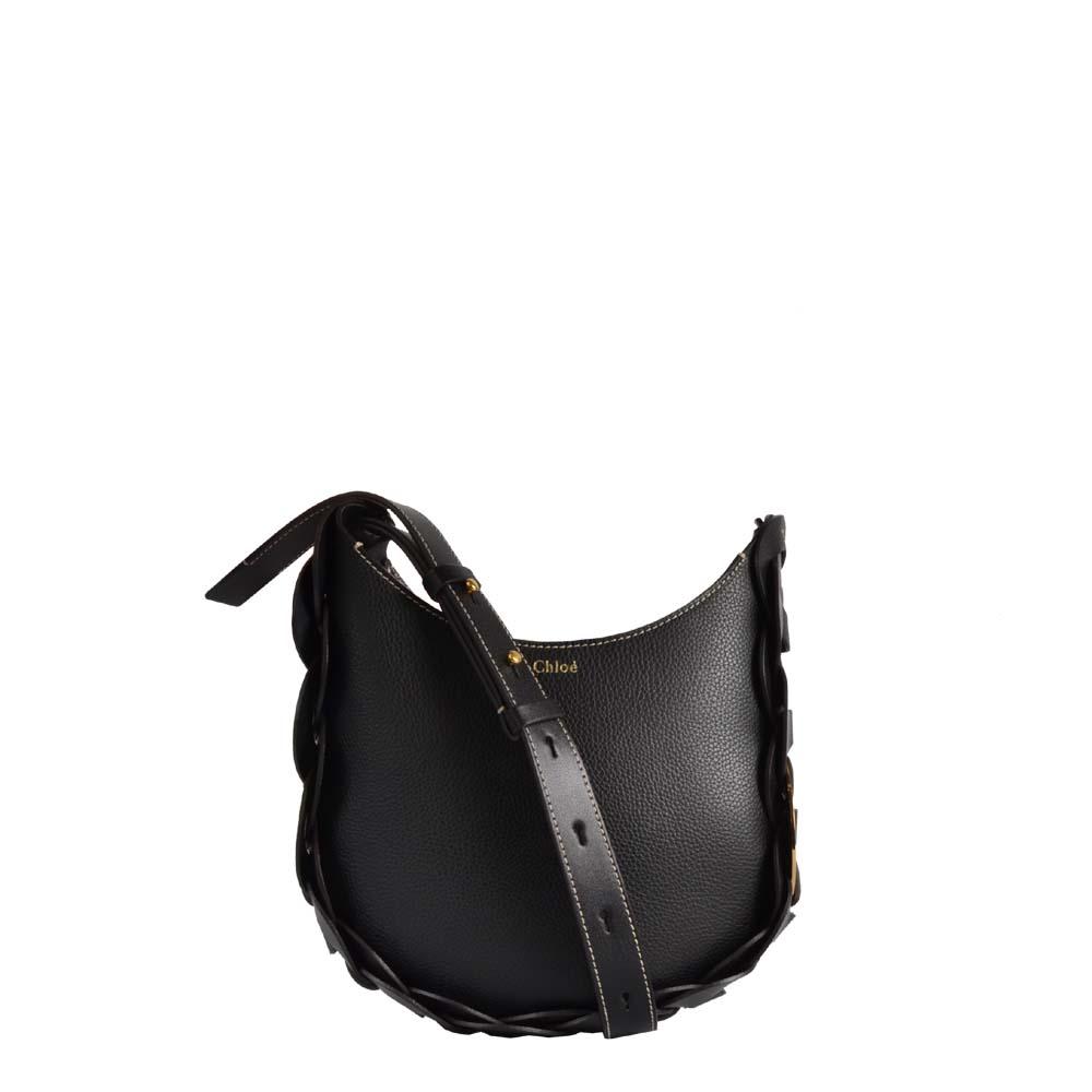 Chloe Darryl Leder Tasche schwarz gold Hardware